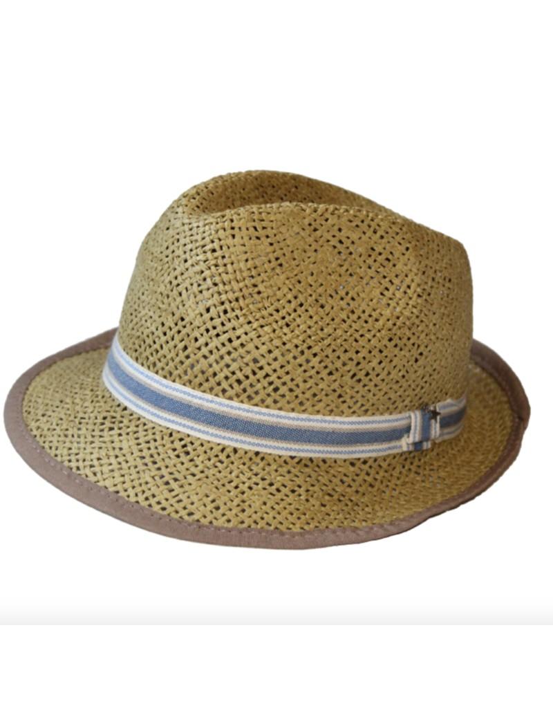 Sombrero paja infantil BORSALINO azul 59baf50dfec
