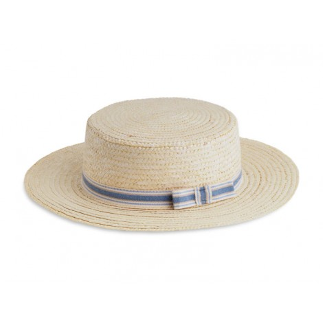 Sombrero infantil paja CANOTIER cinta azul