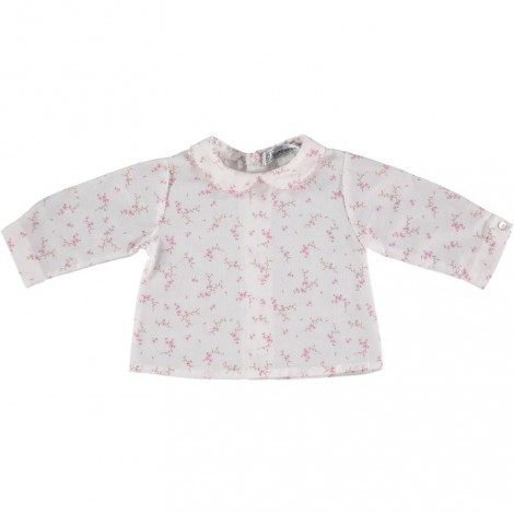 CAMISA BUBU de bebé Flor Rosa