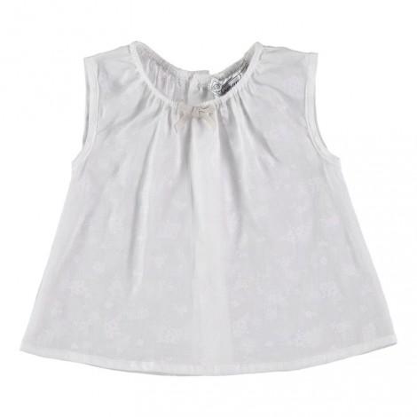 CAMISA PAT de bebé Flor Blanca