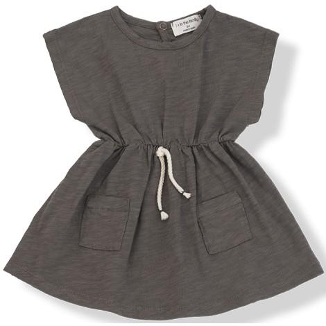 Vestido bebé KATYA cordón cintura en CACAO