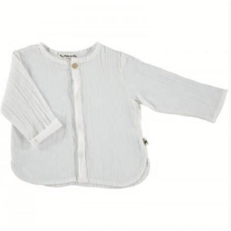 Camisa mao Santorini de bebé IVORY