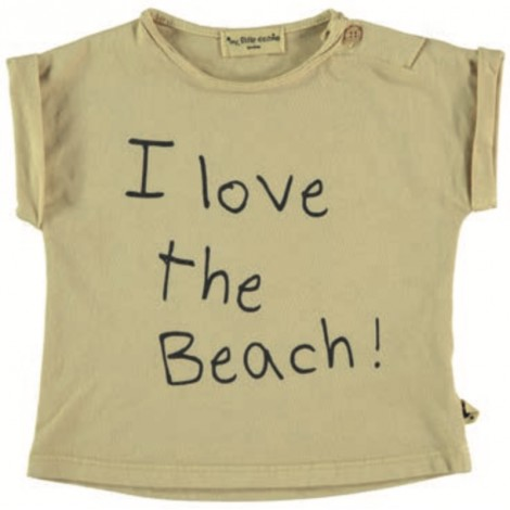 Camiseta M/C print beach de bebé YELLOW