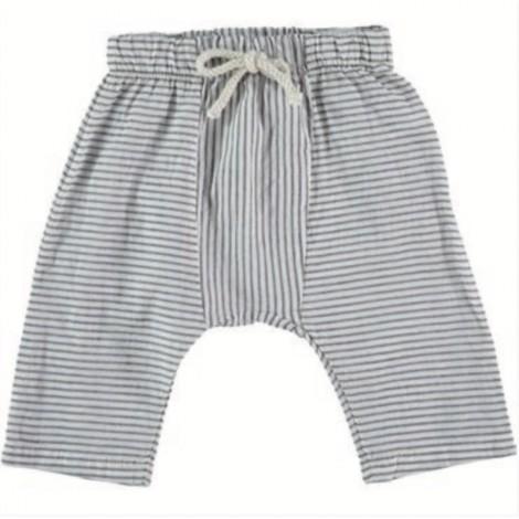 Pantalón Nassau stripes de bebé IVORY
