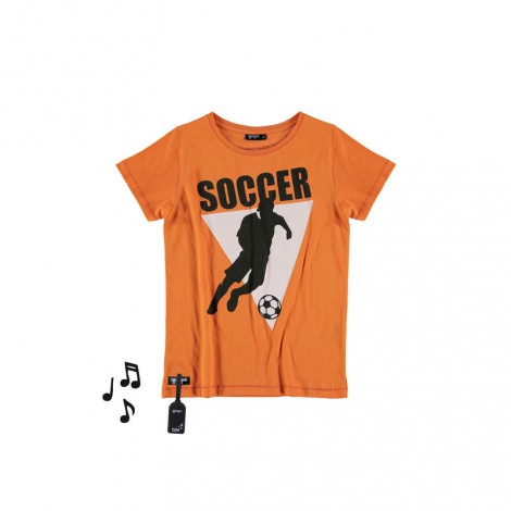Camiseta infantil sonido M/C SOCCER Naranja