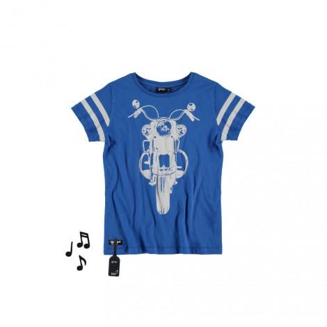 Camiseta infantil sonido M/C OFF ROAD BIKE Azul