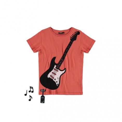 Camiseta infantil sonido M/C AIR GUITAR Paprika