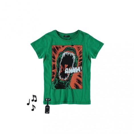 Camiseta infantil sonido M/C DINOSAUR Verde