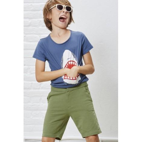 Camiseta infantil bolsillo-lengua M/C SHARK Azul