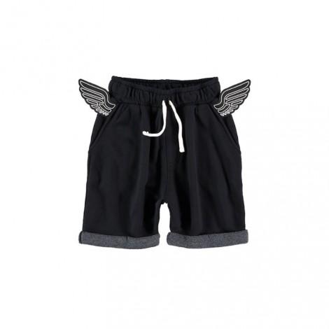 Pantalón short infantil WINGS black