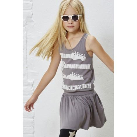 Vestido tirantes niña GUITARS Antracita