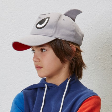 Gorra infantil angry SHARK  Gris