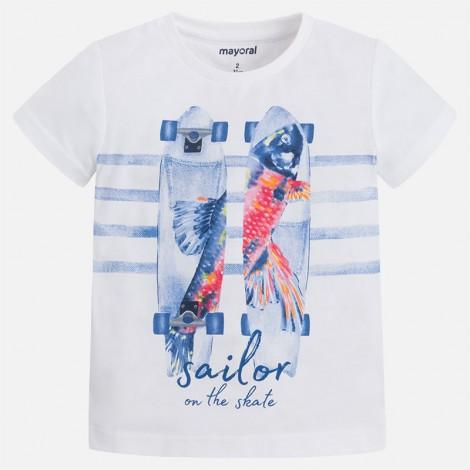 Camiseta m/c Skate Sailor color Blanco
