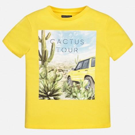 Camiseta m/c Cactus Tour coche color Cadmio