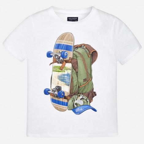 Camiseta m/c SKATE color Blanco