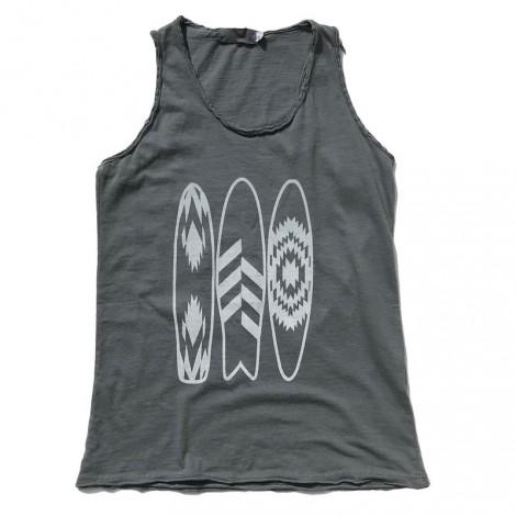 Camiseta niña nadadora tirantes SURF GRIS