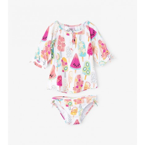 Conjunto bikini niña y camiseta M/C HELADOS