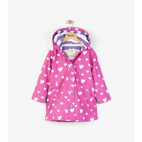 Impermeable niña capucha rosa FLOATING HEARTS