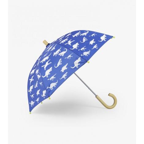 Paraguas infantil azul DINOS cambio color lluvia
