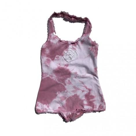 Bañador niña croche ROSA tie dye