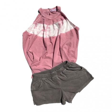 Camiseta niña escote ROSA tie dye Vintage