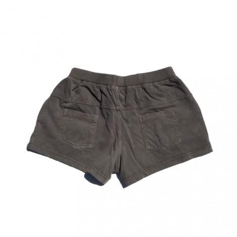 Pantalón short niña en punto color cacao