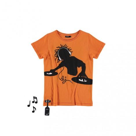 Camiseta infantil sonido M/C DJ orange TEE