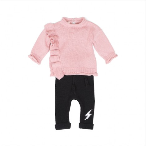 Conjunto tricot BABE bebé en ORCHID