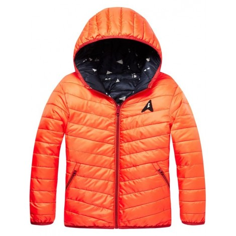 Plumón niño reversible azul-red glow nylon jacket
