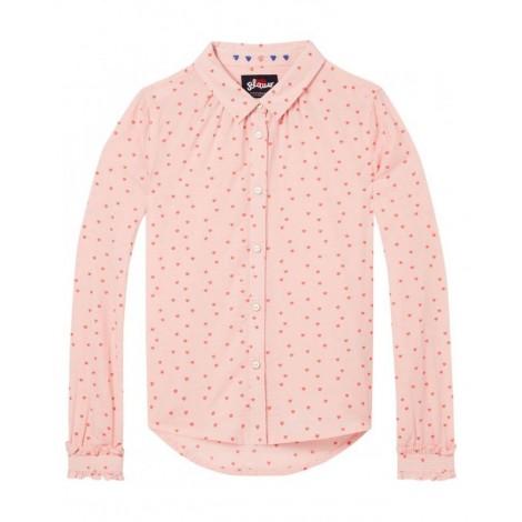 Camisa para niña corazones rosas
