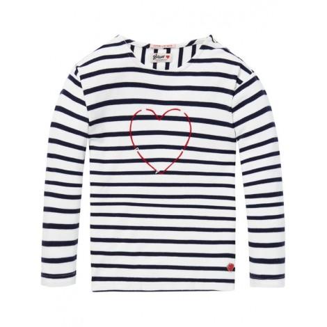 Camiseta niña rayas bretonas azules manga larga