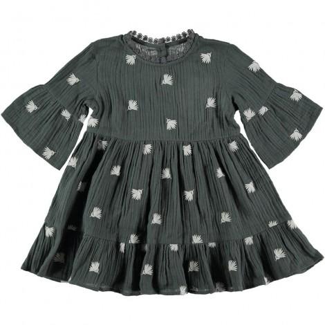 Vestido niña YVETE EMBROIDERY en MUSK