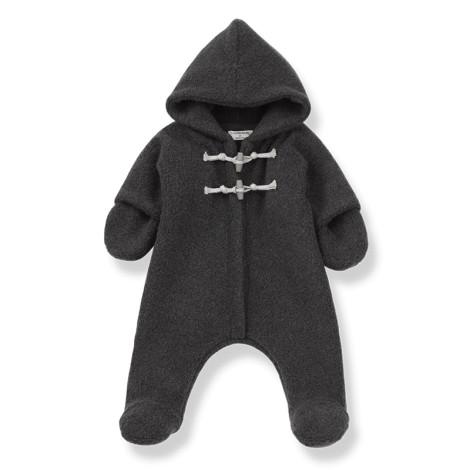 Abrigo buzo bebé ANDRE polar en ANTRACITA