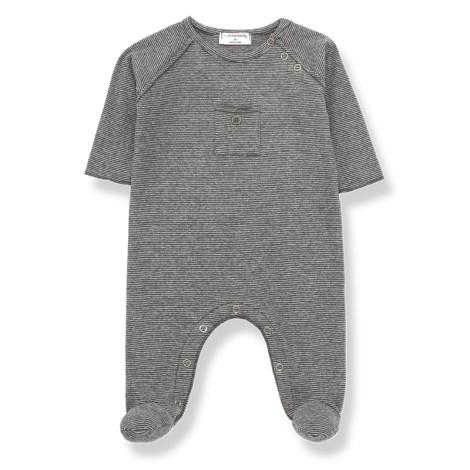 Pelele bebé ASIER bolsillo en ANTRACITA