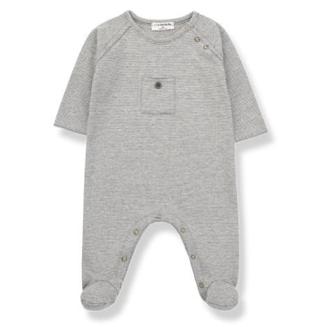 Pelele bebé ASIER bolsillo en GRIS CLARO