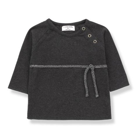Camiseta bebé CUCA recién nacido en ANTRACITA
