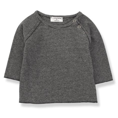 Camiseta bebé ENEKO M/L en ANTRACITA