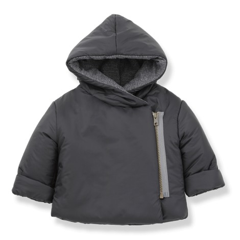Chaqueta bebé abrigo HANSEL cremallera en AZUL