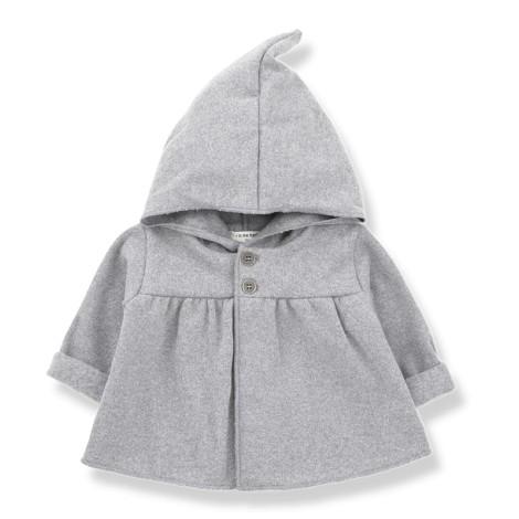 Chaqueta bebé capucha IRATXE en GRIS CLARO