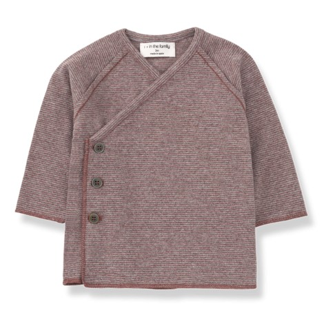 Camiseta jubón cruzado KOJI en PRUNA