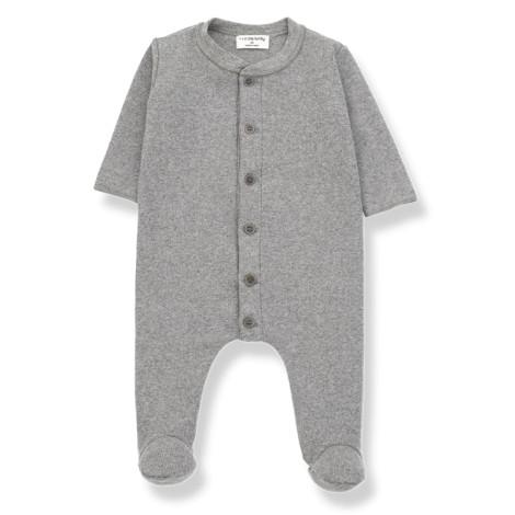 Pelele bebé MARCELLO botones en GRIS MEDIO