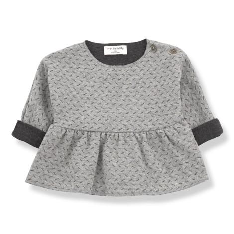 Camiseta blusa bebé MURIEL  en ANTRACITA