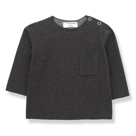 Camiseta bebé ORIOL bolsillo M/L en ANTRACITA
