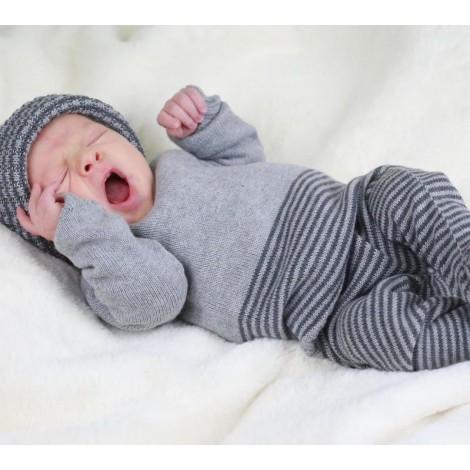 Camiseta canastilla bebé ADI en GREY