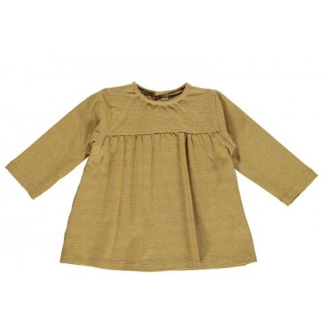 Camiseta bebé blusón ALESSIA en MUSTARD