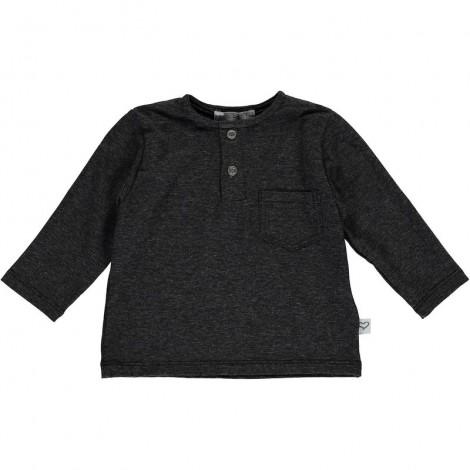Camiseta bebé bolsillo TONI en BLACK