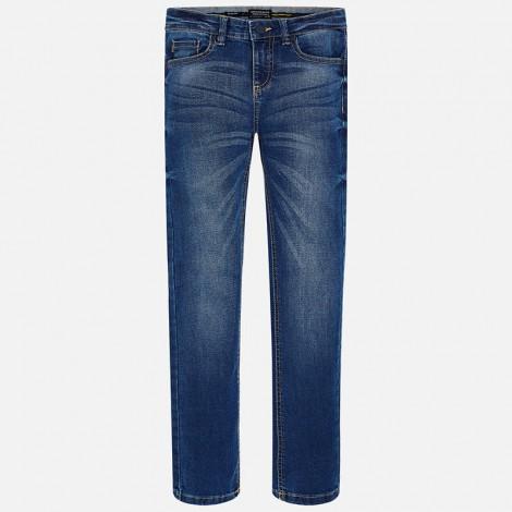 Pantalón tejano parra niño slim fit color Basico