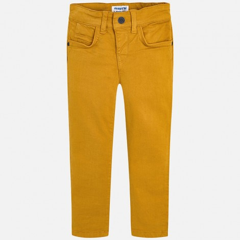 Pantalón sarga para niño slim fit color Honey