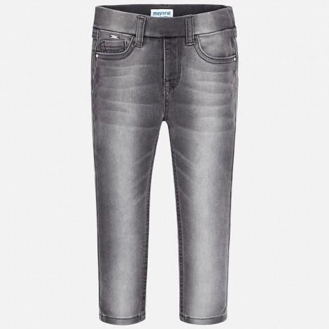 Pantalón tejano niña Super Slim color Gris claro