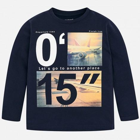 Camiseta manga larga para niño 15 color Noche